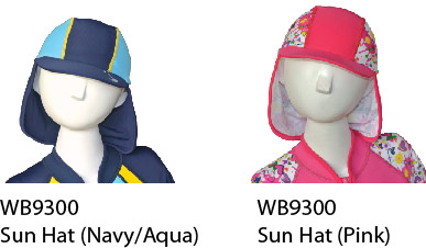 WB9300 Sun hat UV-protection UPF 50+ Kids size S$ 18.90