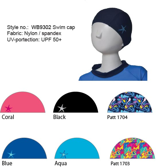 WB9302 Swim cap UV-protection UPF 50+ Kids size S$9.90